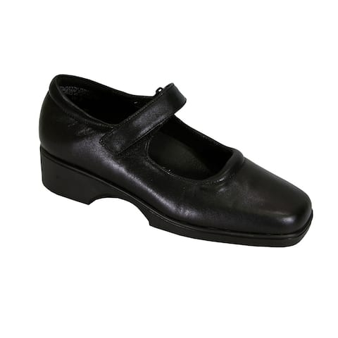 24 HOUR COMFORT Uma Extra Wide Width Leather Mary Jane Style Shoes