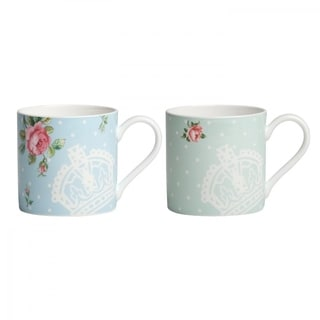New Country Roses Tea Party Mugs, Set of 2