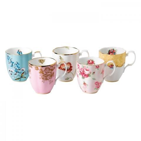 100 Years 1950-1990 14.1-ounce Mugs, Set of 5