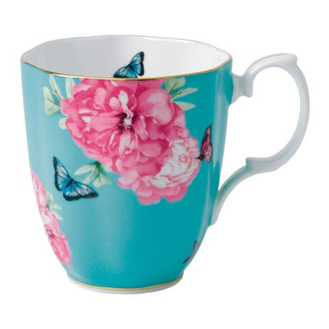 Friendship Vintage Turquoise 13.5-ounce Mug