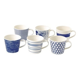 Pacific Accent Mixed Patterns 15-ounce Mugs, Set of 6