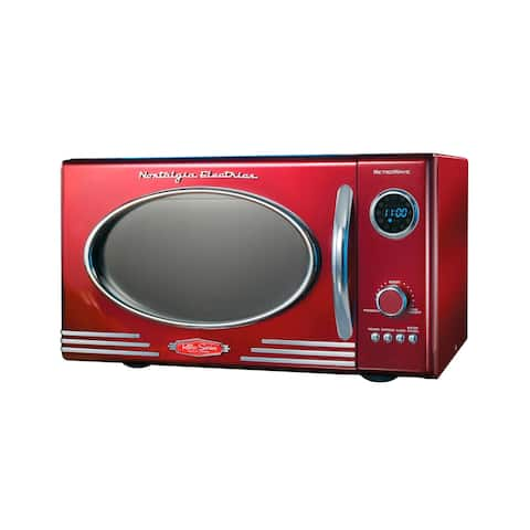 Nostalgia RMO4RR Retro 0.9 Cu. Ft. Microwave Oven, Retro Red