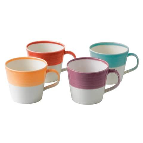 1815 Bright Colors Mixed Patterns Mugs, Set of 4