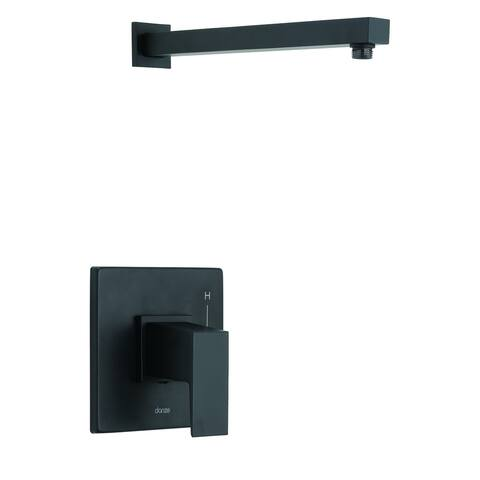 Mid-Town 1H Shower Only Trim Kit & Treysta Cartridge Less Showerhead Satin Black