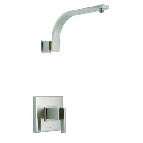 Sirius 1H Shower Only Trim Kit & Treysta Cartridge Less Showerhead Brushed Nickel