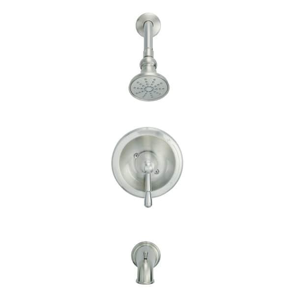 Eastham 1h Tub Shower Trim Kit Treysta Cartridge W Diverter On Spout 2 0gpm Brushed Nickel Overstock 28263134