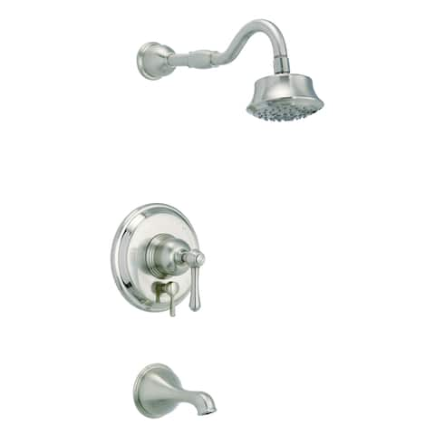 Opulence 1H Tub & Shower Trim Kit & Treysta Cartridge w/ Diverter on Valve & 5 Function Showerhead 1.75gpm Brushed Nickel