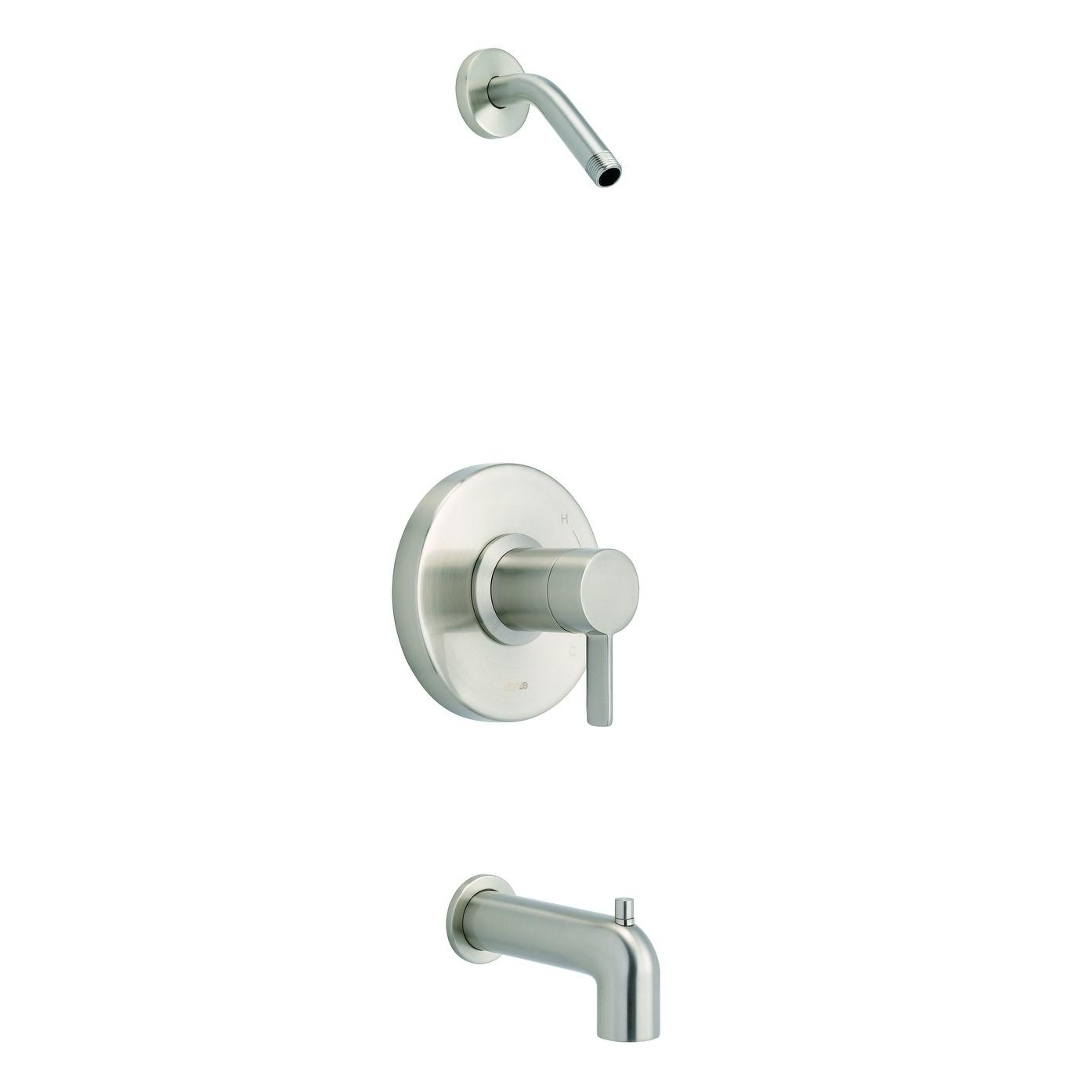 Amalfi 1h Tub Shower Trim Kit Treysta Cartridge W Diverter On Spout Less Showerhead Brushed Nickel