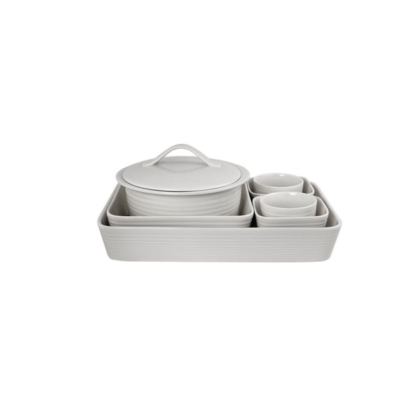 Maze White 7-piece Bakeware Set