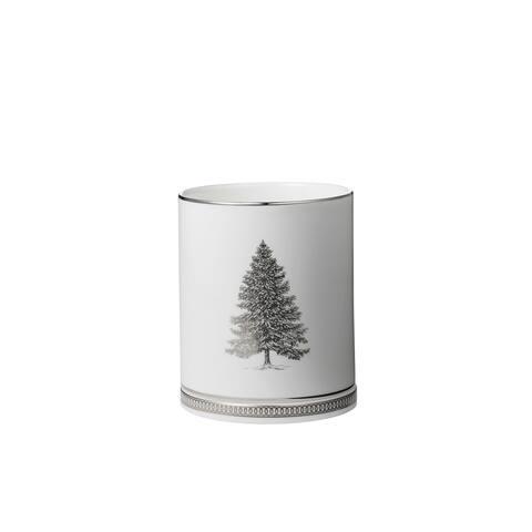 Winter White Christmas Tree Lithophane Ornament