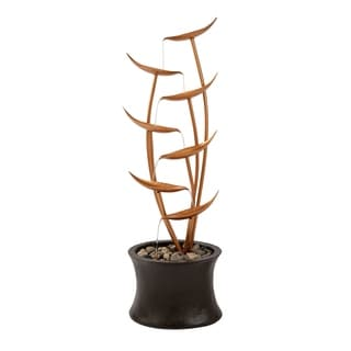 7-Tier Fountain – Modern  Electric Outdoor Cascading Water Feature by Pure Garden - 13.25 x 10 x 42