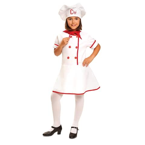 Kids Deluxe Girl Chef Costume - By Dress Up America