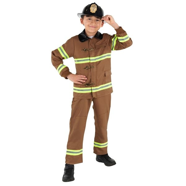 188fe8ec92476 Shop Kids Brown Fire Fighter - By Dress Up America - Free Shipping ...