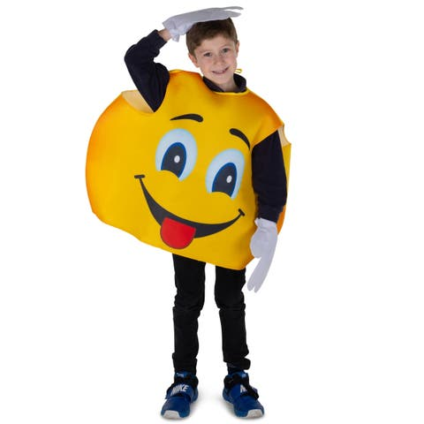 Kids Emoji Smiley Costume, One size fits most - By Dress Up America
