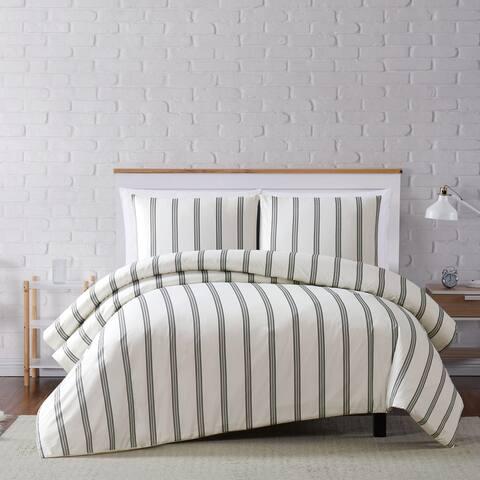 Carson Carrington Tomtnas Soft Millennial Stripe 3-piece Duvet Set
