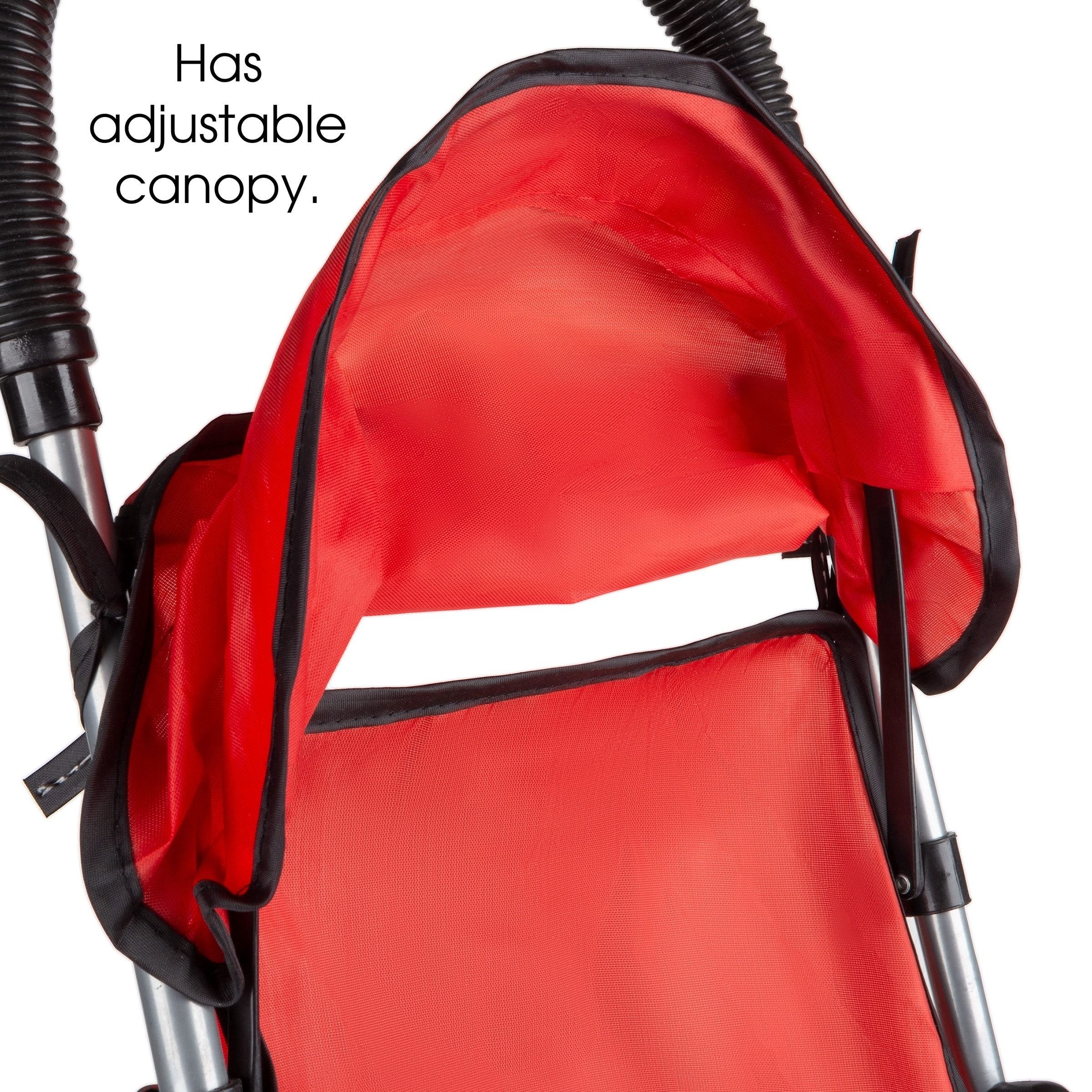 """661650CYK Play Kids and Toddlers Lightweight Umbrella Stroller with Rear Basket and Canopy for Girls 661650CYK 661650CYK 661650CYK Boys Toy Stroller for 10/"""" Baby Dolls- Foldable Hey Red"""