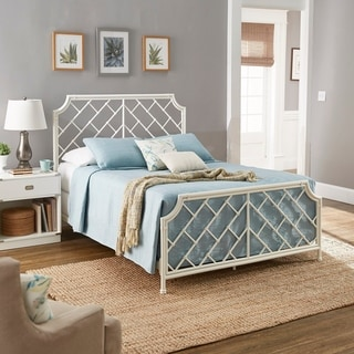 Link to Nelle Geometric Mosaic White Metal Queen Bed by iNSPIRE Q Classic Similar Items in Bedroom Furniture