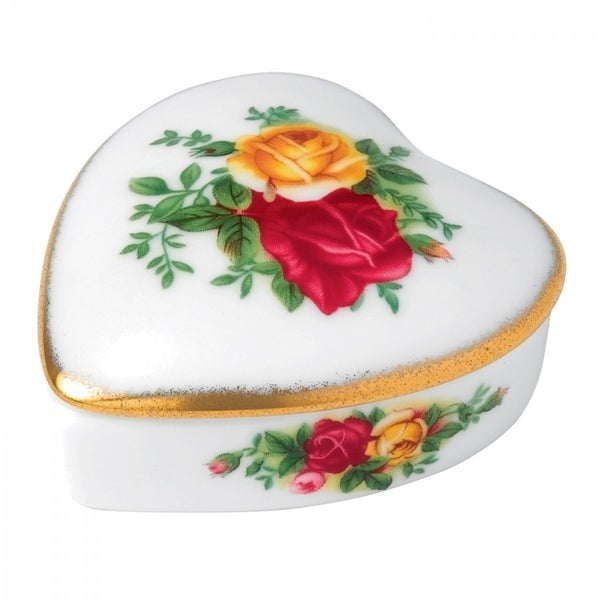 Old Country Roses Heart Box