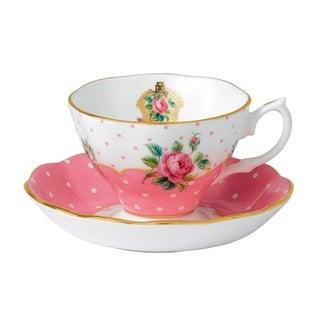 Cheeky Pink Teacup and Saucer Set