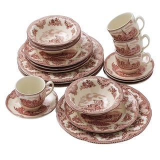 Old Britain Castles Pink 20-piece Dinnerware Set