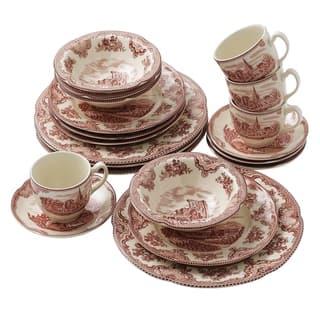 Old Britain Castles Pink 20-piece Dinnerware Set