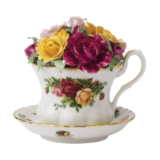 Old Country Roses Musical 4-inch Teacup