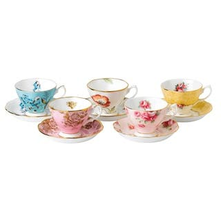 100 Years 1950-1990 Teacup and Saucer Set