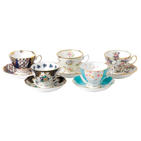 100 Years 1900-1940 Teacup and Saucer Set
