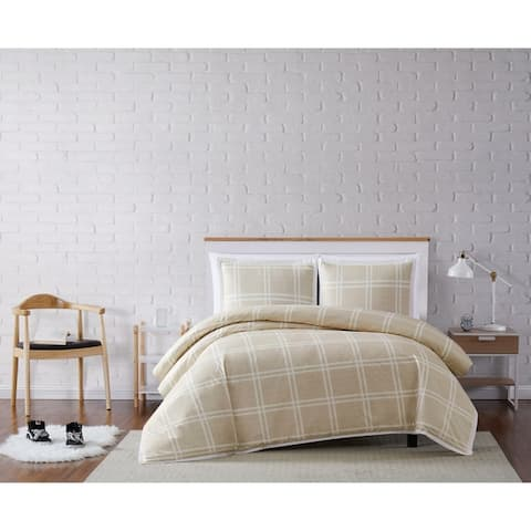 Truly Soft Leon Plaid 3 Piece Duvet Set