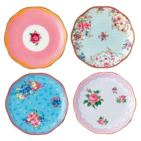 Candy Mini Mixed Patterns 4-piece Plates