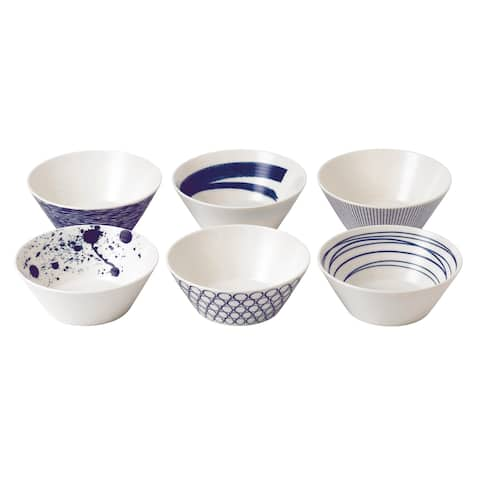 Pacific 6.2-inch Mixed Patterns Bowl, Set of 6