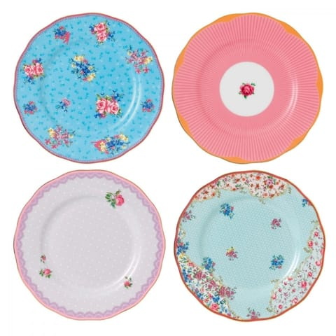 Candy Mixed Patterns 4-piece Plates
