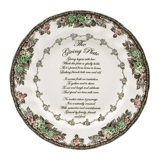 Link to Friendly Village 10.5-inch Giving Plate Similar Items in Serveware