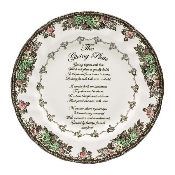 Friendly Village 10.5-inch Giving Plate. Opens flyout.