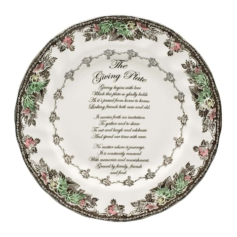 Friendly Village 10.5-inch Giving Plate