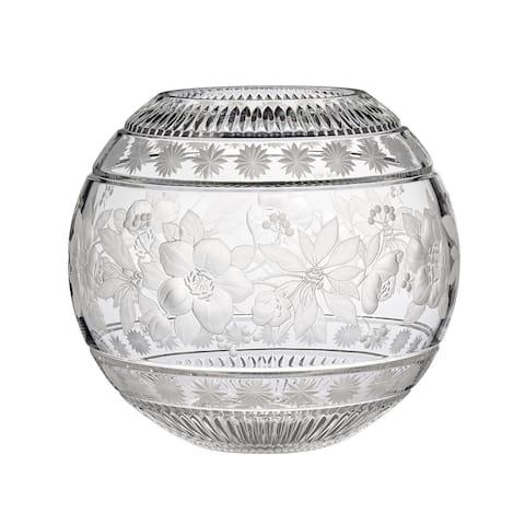 Garland Rose 12-inch Crystal Bowl