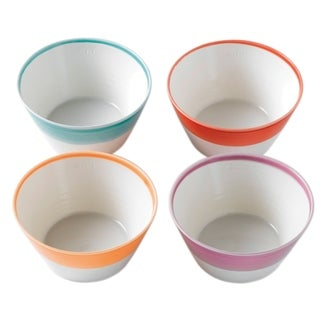 1815 Mixed Patterns Cereal Bright Colors Bowls, Set of 4