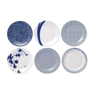 Pacific Mixed Patterns 6-piece Accent Plates