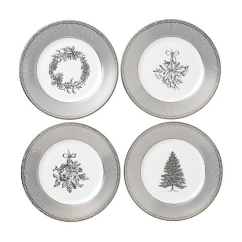 Winter White Giftware 4-piece Salad Plates