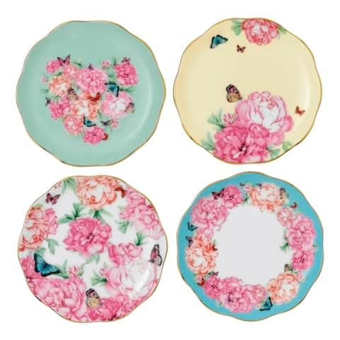 Mixed Patterns 4-piece Tidbit Plates