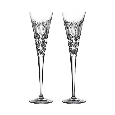 Times Square 2020 Gift of Goodwill Flute Glasses, Set of 2