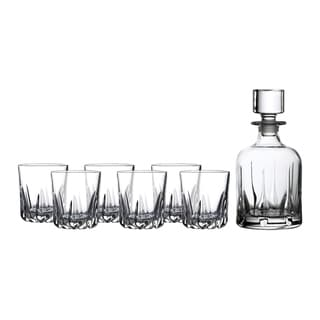 Link to Mode 7-piece Tumblers and Whiskey Decanter Similar Items in Glasses & Barware