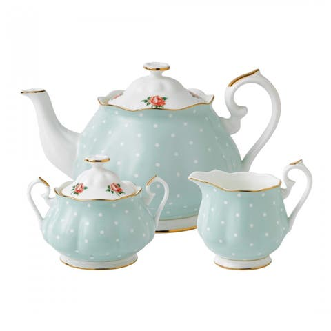 Polka Rose 3-piece Tea Set