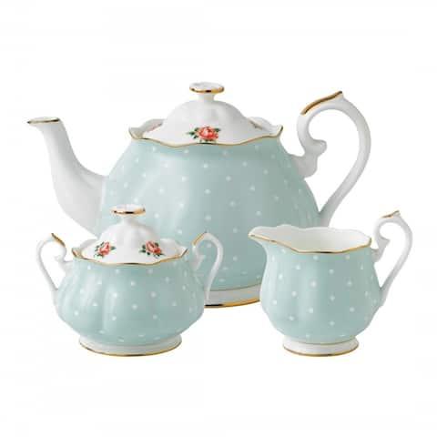 Polka Rose 3-piece Tea Set