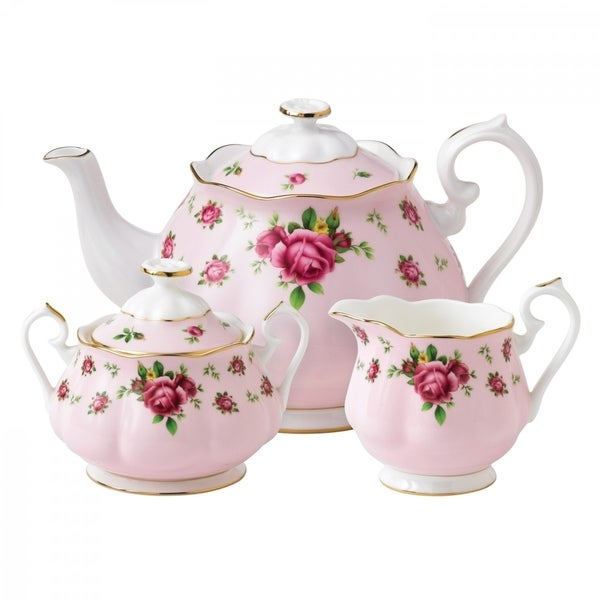 New Country Roses 3-piece Tea Set