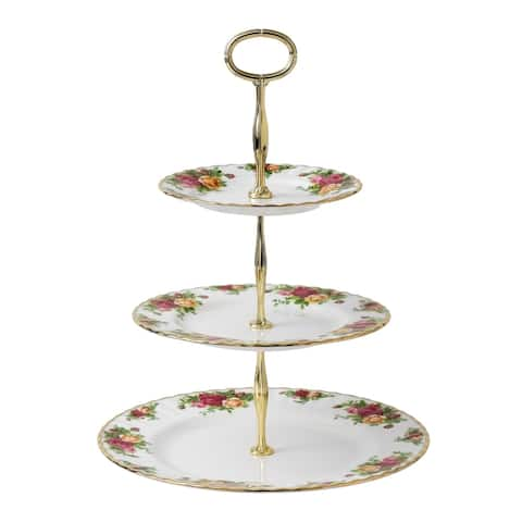 Old Country Roses 3-Tier Cake Stand