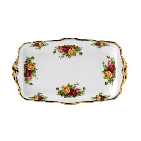 Old Country Roses 11.8-inch Sandwich Tray