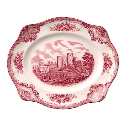 Old Britain Castles Pink 12-inch Scalloped Platter