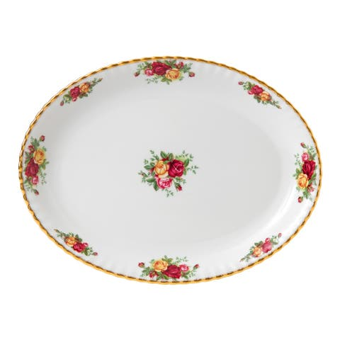 Old Country Roses 13-inch Oval Platter