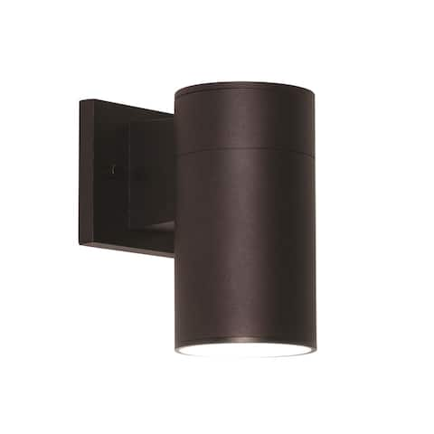 Everly 1-light Black LED Outdoor Sconce, Clear Glass Shade